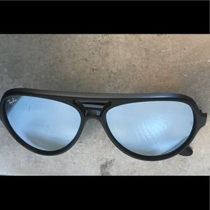 Ray Ban Cats 5000 Matte Black Mirrored Italy
